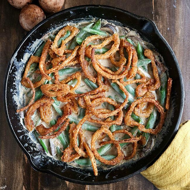 Skillet Green Bean Casserole - Karyl's Kulinary Krusade