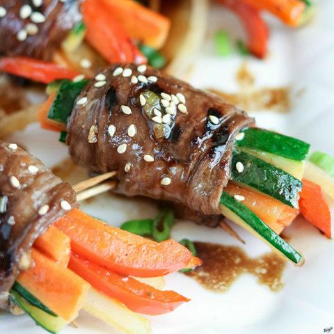 Marinated Steak Vegetable Roll Ups - Karyl's Kulinary Krusade