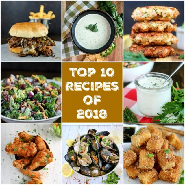 My Top 10 Recipes of 2018 are here! Featured are a couple of dishes that have made this list 2 years in a row, plus some amazing new additions #Top10 #Top10Recipes #karylskulinarykrusade