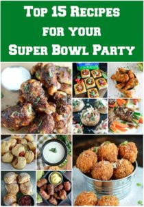 These 15 Recipes are sure to make you a hit at the Super Bowl Party! All easy to make, some to make ahead. These mouthwatering recipes are tried and true...and guest approved! #appetizer #superbowlparty #gamedayentertaining #homegate #karylskulinarykrusade