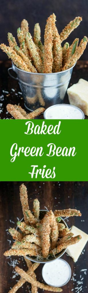 Baked Green Bean Fries are a healthy version of the restaurant appetizer! Crispy, crunchy, and baked to golden perfection, these are the perfect alternative to traditional French fries #vegetables #greenbeans #greenbeanfries #bakedfries #vegetarian #appetizer #sidedish #karylskulinarykrusade