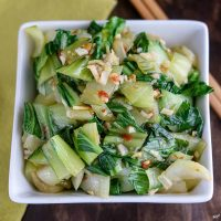 Chili Garlic Baby Bok Choy