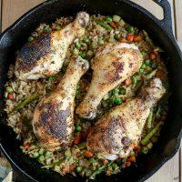 Dirty Rice Chicken Skillet