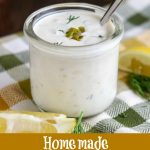 picture of finished tartar sauce in glass jar, Pinterest picture