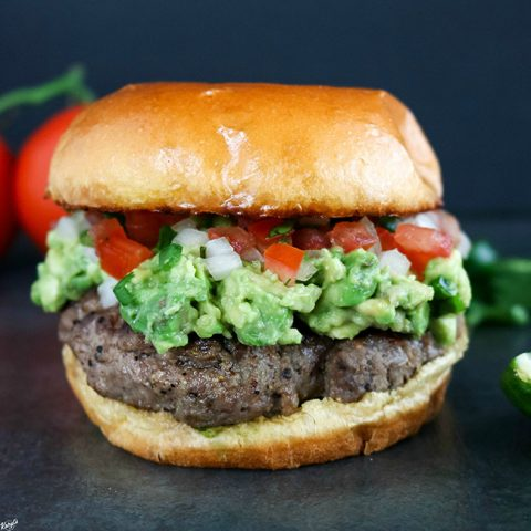 Avocado Salsa Fresca Burger