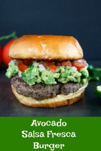 finished Avocado Salsa Fresca Burger