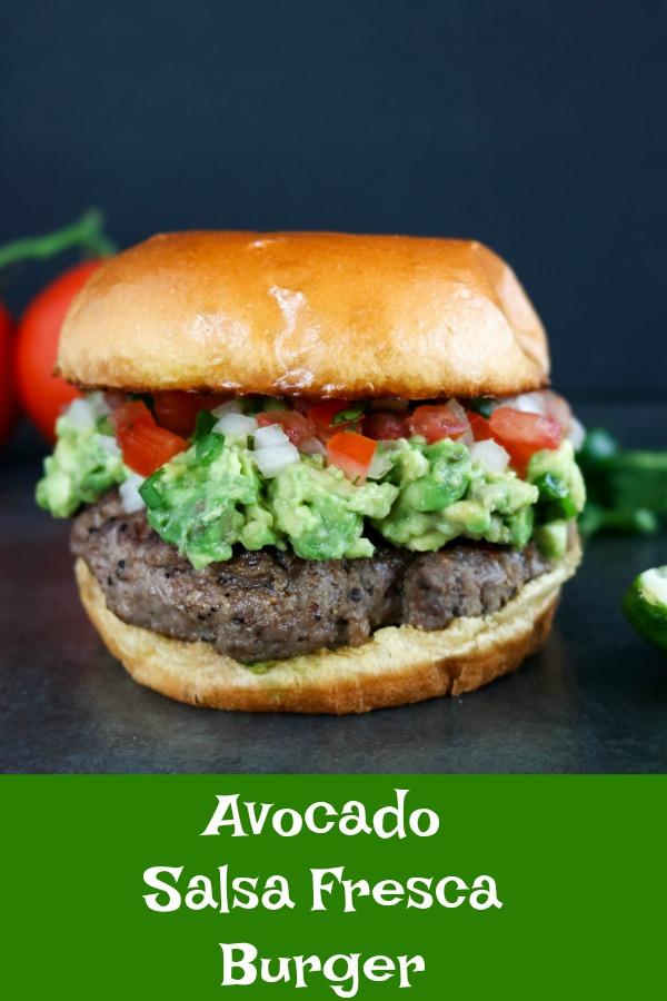 finished Avocado Salsa Fresca Burger
