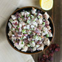 Bacon Cranberry Chicken Salad